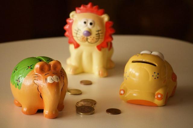 pokladničky, kasičky v podobě zvířat